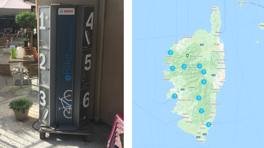 Charging station - Map of charging stations in Corsica